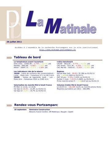 26 juillet 2011 - La Matinale de Portzamparc - Cybergun