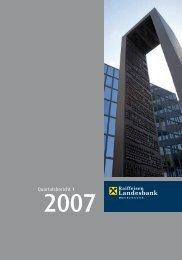 Quartalsbericht 1/2007 (PDF, 121 kB) - Raiffeisenlandesbank ...