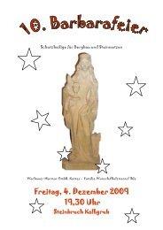 Freitag, 4. Dezember 2009 19,30 Uhr - Wachauer Marmor GmbH