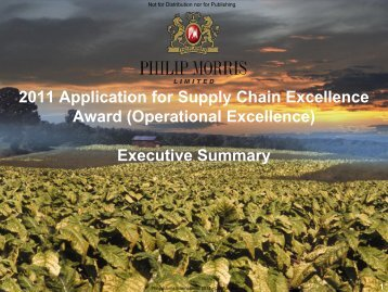 Philip Morris - Supply Chain Council