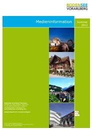 Medieninformation Sommer - Bodensee Vorarlberg