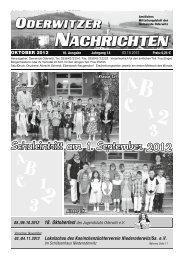 Oktober - Gemeinde Oderwitz