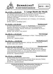 September und Oktober - Evangelische Kirchengemeinde ...