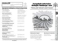 Kirchennachrichten - Kirchspiel Radeberger Land
