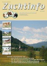 Zuchtinfo 1/2010 - Rinderzuchtverband Salzburg