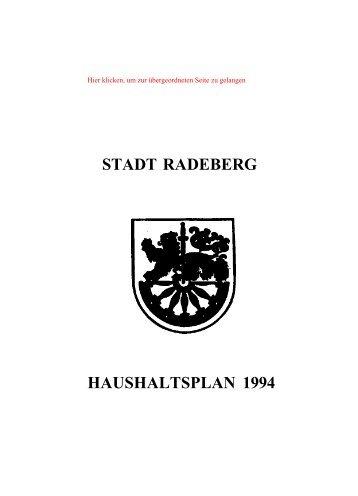 Stadtratsdrucksache 95/94 - Familie Spiegel in Radeberg