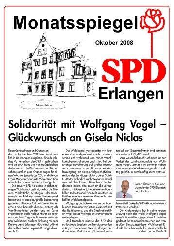 Ausgabe Oktober 2008 - SPD Erlangen