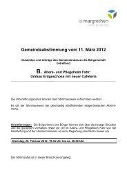 B. Alters- und Pflegeheim Fahr - St. Margrethen