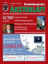 Brandenburgisches Ärzteblatt 03/2007 - Landesärztekammer ...