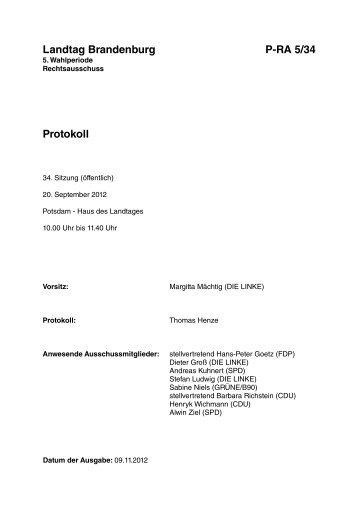 vom 20. September 2012 - Brandenburg.de