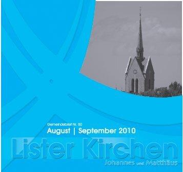 August | September 2010 - Luth. Lister Johannes- und Matthäus ...