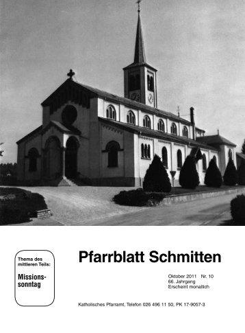 Pfarrblatt Nr. 10 - Pfarrei Schmitten