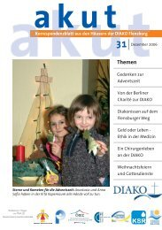 Akut 31 Weihnachten 2006.indd - DIAKO Flensburg