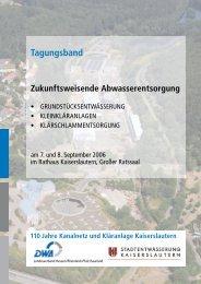 Tagungsband - Stadtentwässerung Kaiserslautern