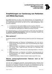 Empfehlungen zur Sanierung von Patienten mit MRSA - Bayern