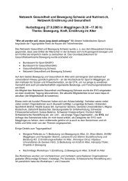 Netzwerk Gesundheit und Bewegung Schweiz und Nutrinet.ch ...