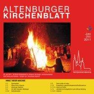 Inhalt dIeser ausgabe: - Kirchgemeinde Altenburg