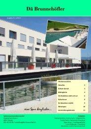 Hauszeitung 2/2010 [PDF, 1.00 MB] - Seniorenzentrum Brunnenhof