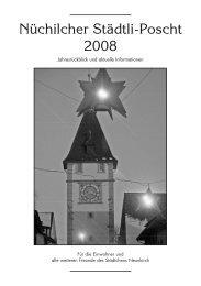 Städtli-Poscht 2008 [PDF, 4.00 MB] - Gemeinde Neunkirch