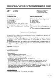 Protokoll der 26. Sitzung des Planungsausschusses vom 13.03