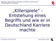 """""""Killerspiele"""" - Entstehung eines Begriffs und wie er in ... - darktiger.org"""