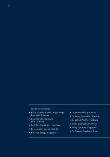 Board of Directors and Management Board - Kuehne + Nagel