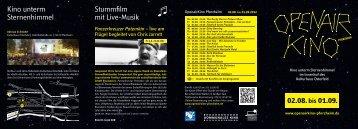 OpenairKino Pforzheim 2012 - Kommunales Kino Pforzheim