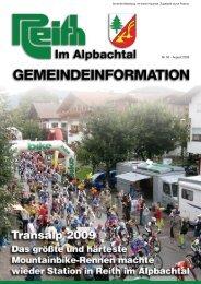 Nr. 03 - August 2009 - Reith im Alpbachtal