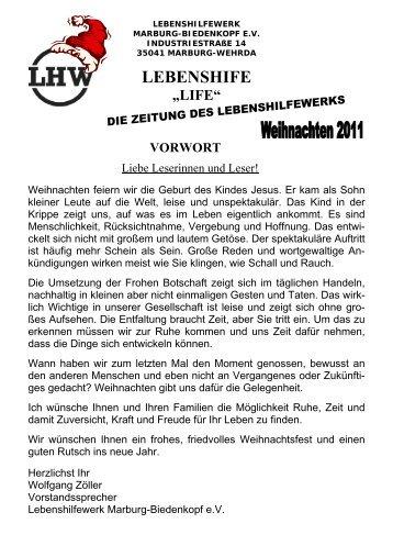 "lebenshife ""life"" - Lebenshilfewerk Marburg - Biedenkopf e.V."