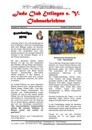 CN Ausg. 62/05/2010 - Judo Club Ettlingen eV