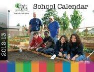Printable 12 month color calendar - Clover Park School District