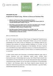 vollständige Pressemitteilung - Groth Gruppe