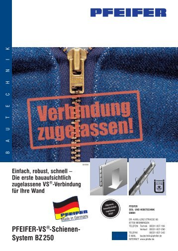 PFEIFER-VS®-Schienen- System BZ250