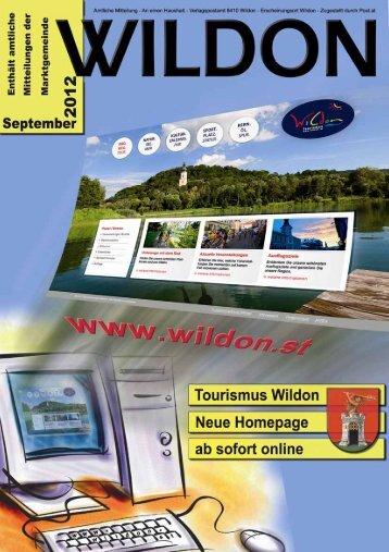 Hier können Sie die Gemeindezeitung von September 2012 - Wildon