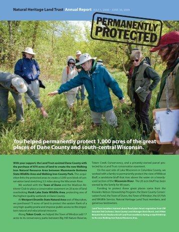 FY 2008-2009 PDF Format - Natural Heritage Land Trust