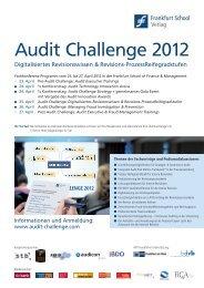 aktuelle Programm zur Fachkonferenzreihe Audit ... - Rudolf X. Ruter