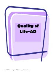 Quality of Life-AD - Dementia Outcomes Measurement Suite (DOMS)