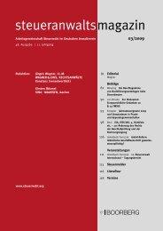 steueranwalts magazin - Wagner-Joos Rechtsanwälte