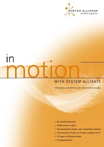 INMOTION - Ausgabe 01.indd - System Alliance