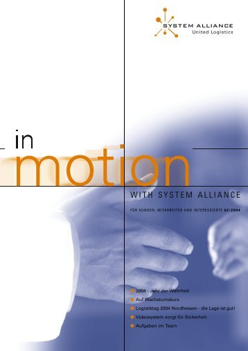 INMOTION - Ausgabe 02.indd - System Alliance