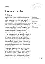Organische Solarzellen und Injektionssolarzellen - PV Uni-Netz