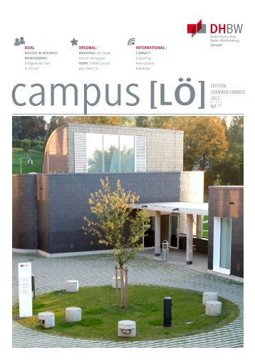 Nr. 1, Edition Sommer/Herbst 2012 - DHBW Lörrach