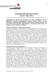 Gemeinderatsbericht der Sitzung vom 27. März 2012