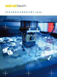 Geschäftsbericht 2009 (pdf) - AdvalTech
