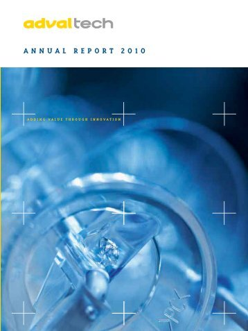 Annual report 2010 (pdf) - AdvalTech