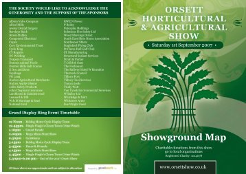 Showground Map - Orsett Show