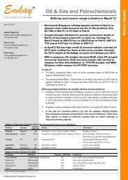 Oil and Gas Sector Update - Emkay Global Financial Services Ltd.
