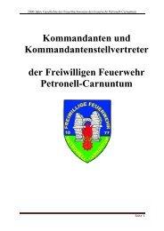 Kommandanten und Kommandantenstellvertreter