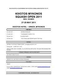 KIVOTOS MYKONOS SQUASH OPEN 2011
