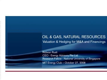 Oil & gas, natural resources - MIT Energy Club